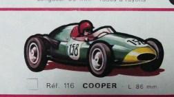 catalogue Solido: Cooper 1,5L F1 dessin de Jean Blanche