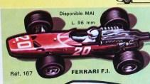 catalogue Solido : Ferrari 312 V12 F1 1967 dessin de Jean Blanche