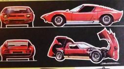 catalogue Solido : Lamborghini Miura dessin de Jean Blanche