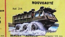 catalogue Solido : Berliet Auroch signé Jean Blanche ...ce dessin m'a beaucoup marqué