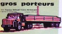 catalogue Solido : Berliet TBO saharien dessins de Jean Blanche (observez le trait noir ceinturant le modèle)