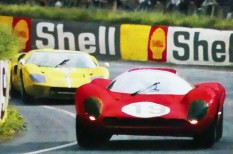 Ferrari 330 P4 Le Mans 1967 (carte postale)