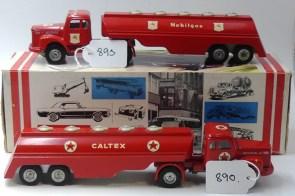 "Tekno Scania 110 semi citerne""Caltex"" et ""Moblilgas"" prototypes venant de chez Tekno"