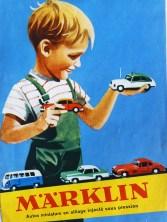 Märklin catalogue avec enfant : quand je serai grand, je serai policier, et je conduirai une Porsche