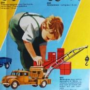 Märklin catalogue avec enfant en pleine activité de jeux