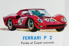 Mercury: affichette éditée par Safir en langue française pour promouvoir la gamme (Ferrari P2)