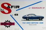 Mercury: affichette éditée par Safir en langue française pour promouvoir la gamme (Fiat Dino)
