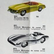 Marklin catalogue pour le marché italien ! une auto de course et un cabriolet ! Ma !