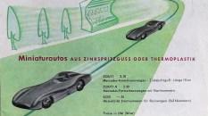 Marklin catalogue d'immédiat aprés guerre avec la Buick et la Mercedes 300 et la fameuse flèche d'argent de 1954