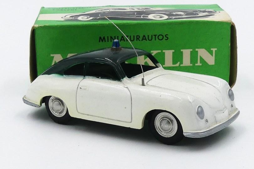Marklin Porsche 356A polizei un vrai plaisir que de se faire arrêter par une telle auto !