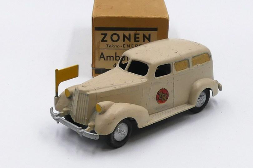 Tekno Packard ambulance variantes de jantes (zamac peintes de couleur argent)