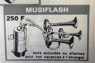 Publicité pour Klaxons Musiflash