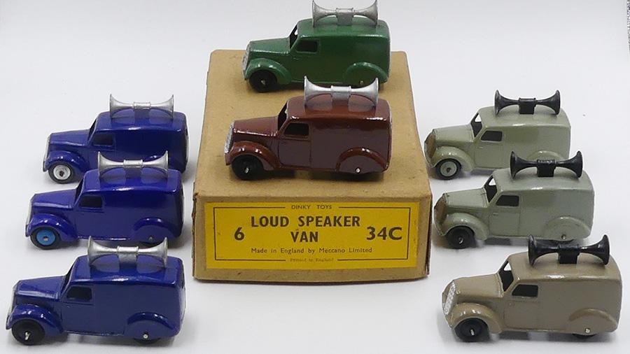 Dinky Toys GB camionnette avec haut parleur (loud speaker)