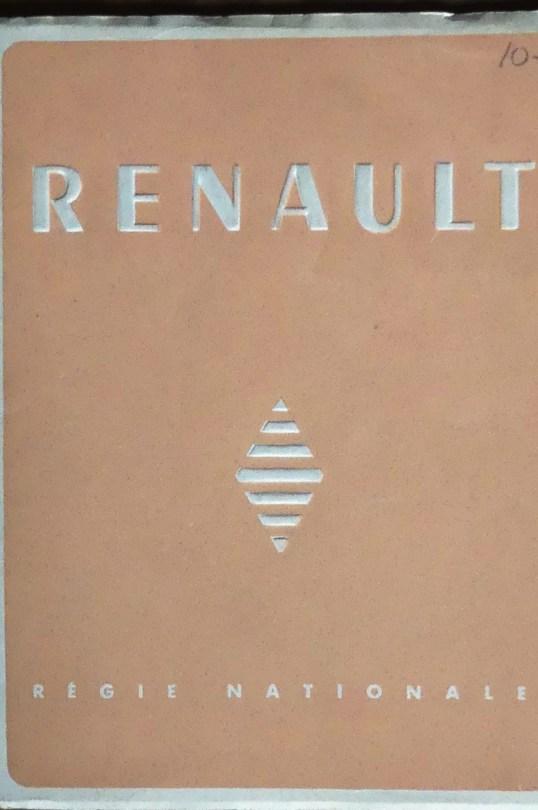 Le beau fascicule édité par la Régie Renault