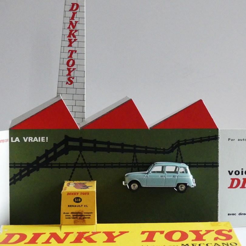 présentoir Renault 4L de chez Dinky Toys