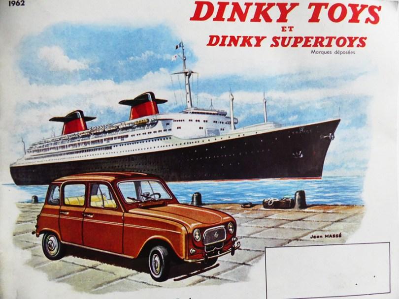 catalogue Dinky Toys France avec la Renault 4L