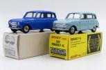 Dinky Toys Renault 4L bleue provenant de chez monsieur Badaroux avec sa rarissime boîte blanche avec tampon indiquant le bon à tirer