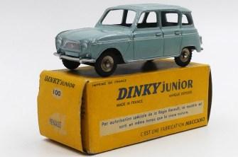 Dinky Toys Renault 4L Junior bleue provenant de la collection de l'importateur italien Parodi