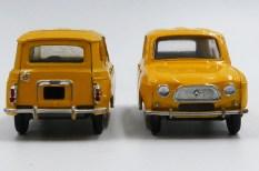 Dinky Toys Renault 4l postes avec chassis en tôle vissé ou serti réalisé par Claude Thibivilliers
