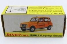 Dinky Toys Renault 4L autoroutes (dessin avec la nouvelle calandre)