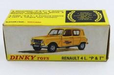 Dinky Toys Renault 4L postes (dessin avec la nouvelle calandre)