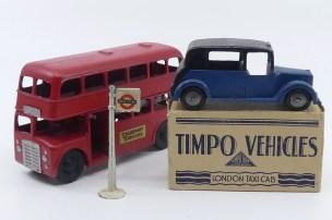 Sundaw AEC bus à deux étages et taxi Timpo Toys