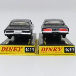 Dinky Toys Ford Thunderbird coupé 68 couleur de la DS présidentielle avec feux stop allumés et intérieurs différents