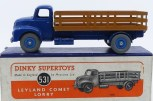 Dinky Toys Leyland Comet avec ridelles ajourées (caramel) avec jantes concave bleu