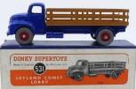 Dinky Toys Leyland Comet avec ridelles ajourées (caramel) avec jantes concave rouge