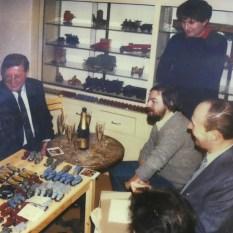 Réunion des marchands parisien chez Mr Lepage: mon père à gauche, moi même, Gianni et monsieur Scherperreel