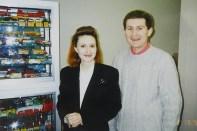 mon épouse Isabelle et moi même à Rétromobile en 1993