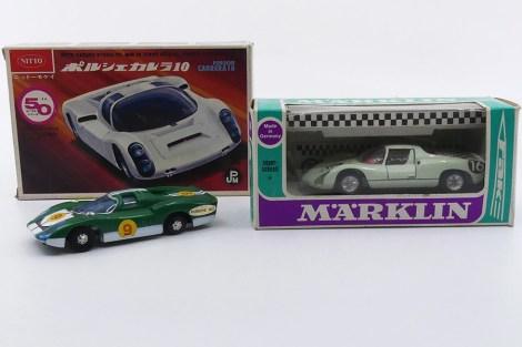Nitto (Japon) et Märklin (Allemagne) Porsche 910 et Ideal (Hong Kong) Porsche 907