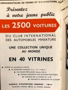 Des vitrines pour Edmond ! la première exposition au monde de miniatures ! et en plus vous pouviez les louer ensuite !