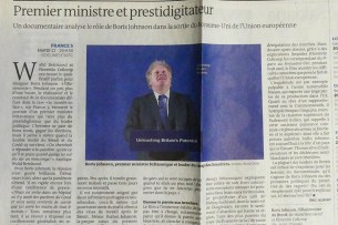 """article du Monde """"premier ministre et prestidigitateur"""" d'Eric Albert"""