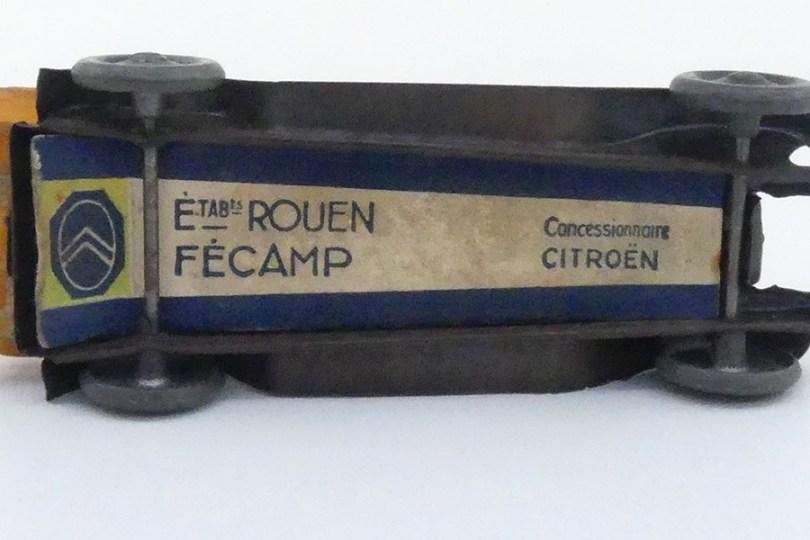 """""""Les jouets Citroën"""" Citroën C4 (rare étiquette publicitaire)"""
