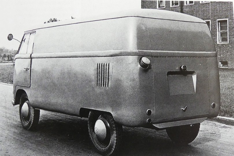 prototype d'un des premiers Volkswagen Kombi
