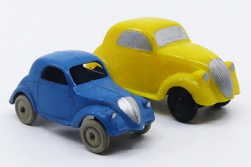 Dinky Toys Simca 5 et Rivarossi Fiat au 1/43 !