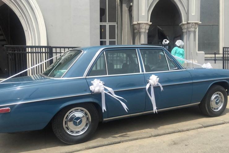 Ihram Kids For Sale Dubai: Wedding Car Spotted In Lagos, Vintage 1967 Benz 230