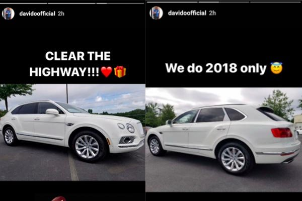 Davido's new Bentley Bentayga