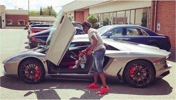 Obafemi Martins Shows Off His N162m Lamborghini Photo