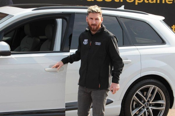 messi and his Audi Q7