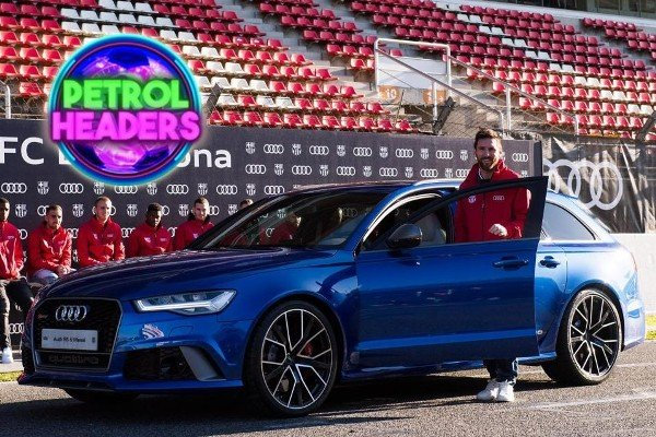 messi and his Audi rs6