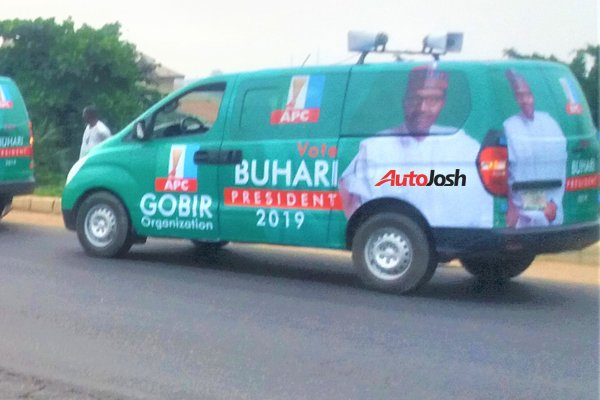 Buhari-Campaign-Cars-12 About 100 Buhari Campaign Buses Spotted In Lagos (Photos)