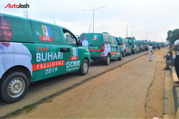 Buhari-Campaign-Cars-5-1 About 100 Buhari Campaign Buses Spotted In Lagos (Photos)