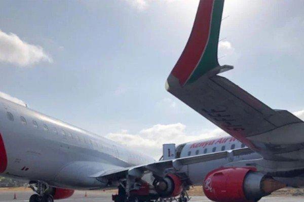 kenyan airline plane collide