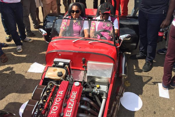 Chief Ade-Ojo Of Elizade Spotted Behind The Wheels Of A Tiger Avon Race-Car 3