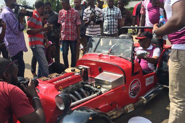 Chief Ade-Ojo Of Elizade Spotted Behind The Wheels Of A Tiger Avon Race-Car 2