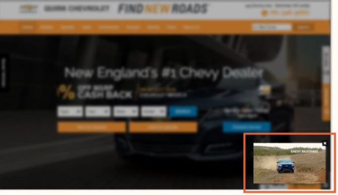 video content overlay for dealership