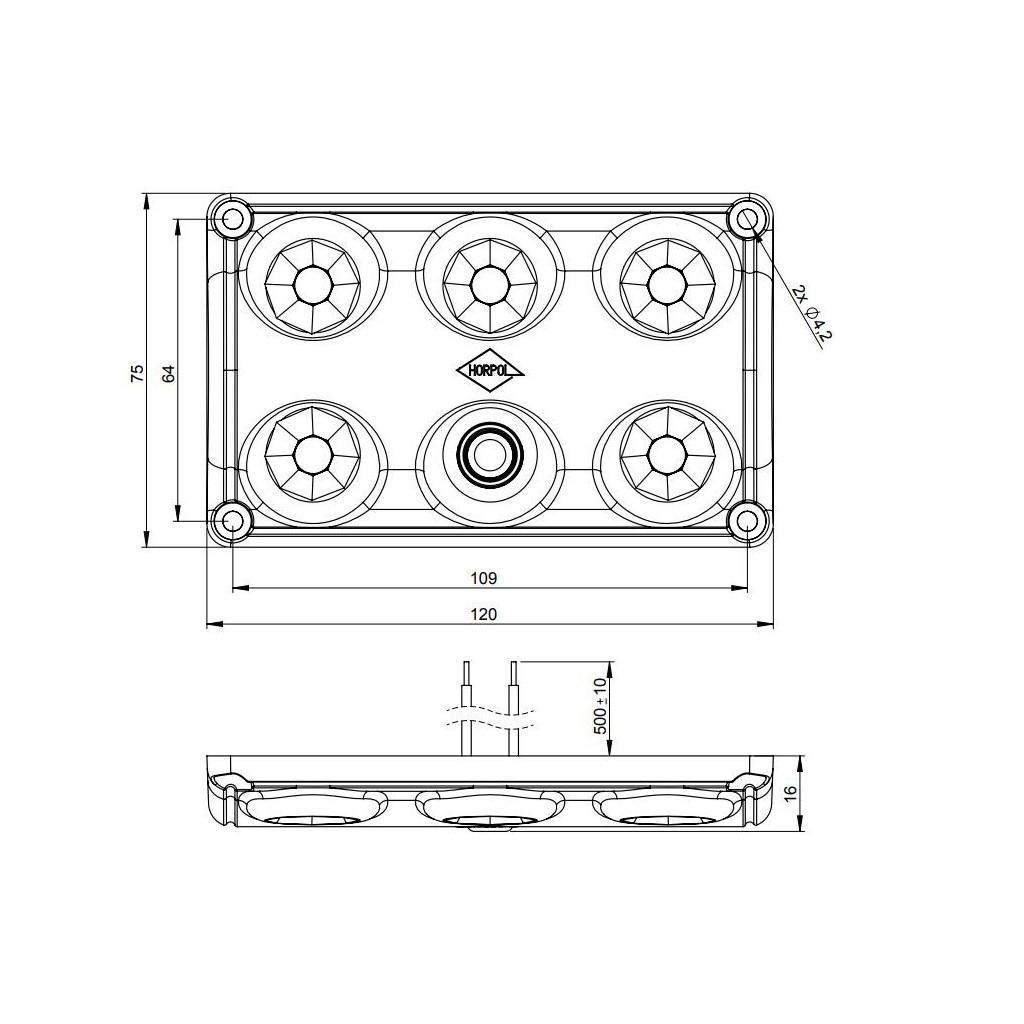 Led Interior Lighting Lamp Rectangular With Switch Lwd