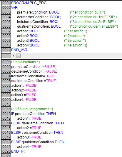 Exemple de IF et ELSIF